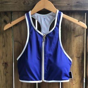 JUICY COUTURE NWT Black Label bikini top blue M